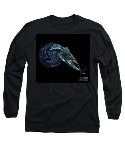 Long Sleeve T-Shirt featuring the digital art Moonlit Goose by Sara  Raber
