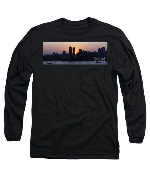 Long Sleeve T-Shirt featuring the photograph Morning On The Hudson by Lilliana Mendez