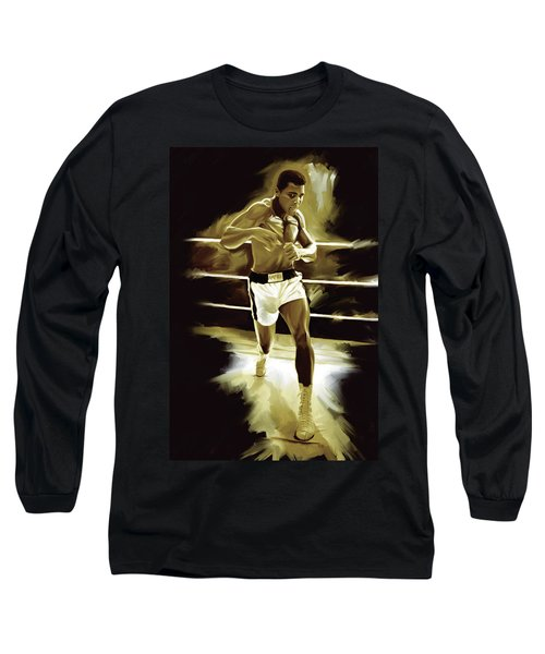 Muhammad Ali Boxing Artwork Long Sleeve T-Shirt
