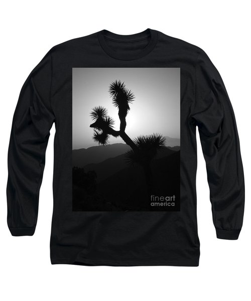 New Photographic Art Print For Sale Joshua Tree At Sunset Black And White Long Sleeve T-Shirt