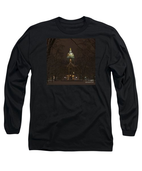Notre Dame Golden Dome Snow Long Sleeve T-Shirt