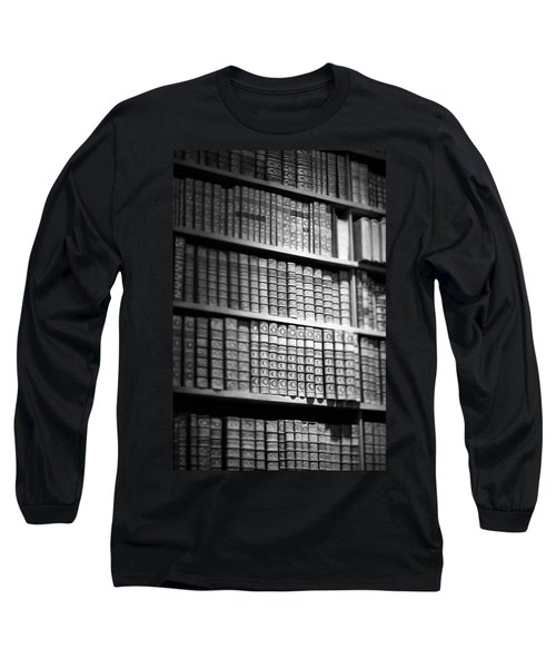 Long Sleeve T-Shirt featuring the photograph Old Books by Chevy Fleet
