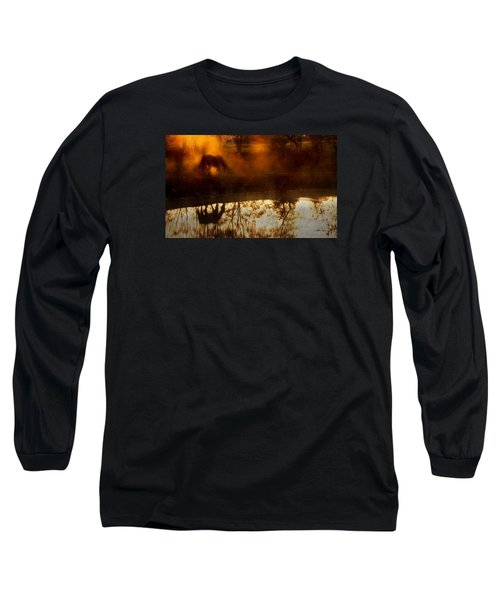Long Sleeve T-Shirt featuring the photograph Orange Mist by Joan Davis