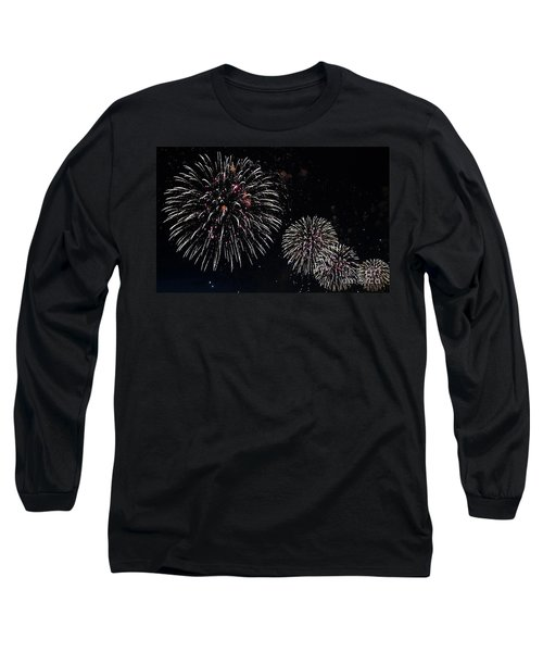 Long Sleeve T-Shirt featuring the photograph Pink Fireworks by Lilliana Mendez