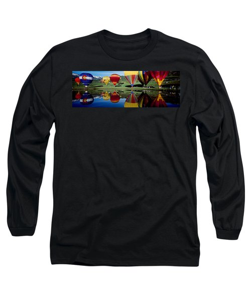 Reflection Of Hot Air Balloons Long Sleeve T-Shirt