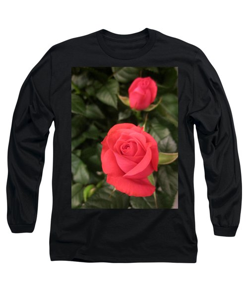 Roses In Red Long Sleeve T-Shirt