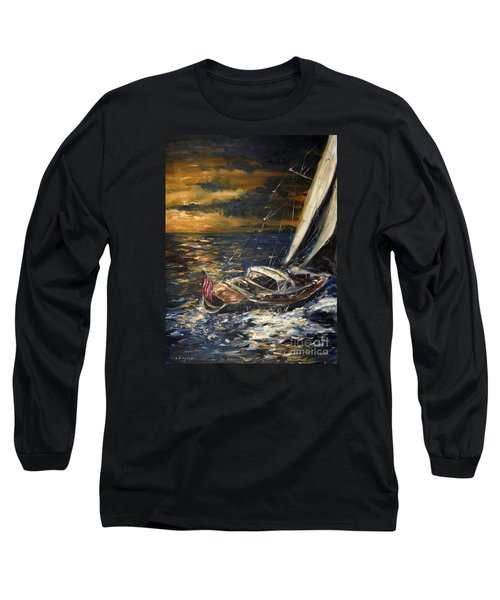 Sailing Long Sleeve T-Shirt by Arturas Slapsys