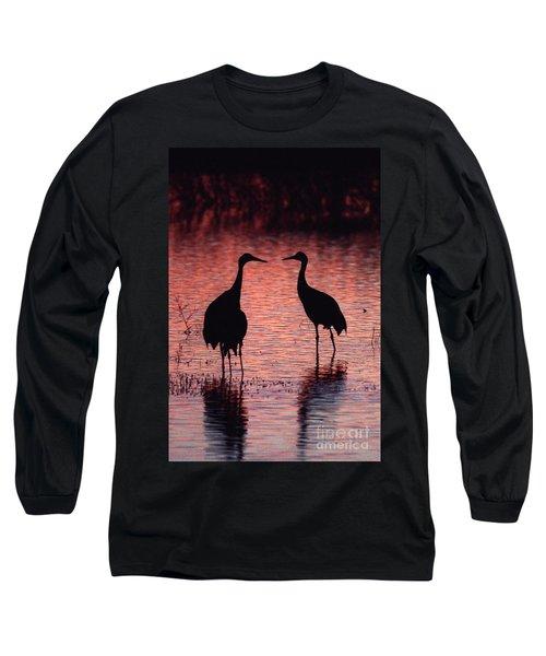 Sandhill Cranes Long Sleeve T-Shirt by Steven Ralser