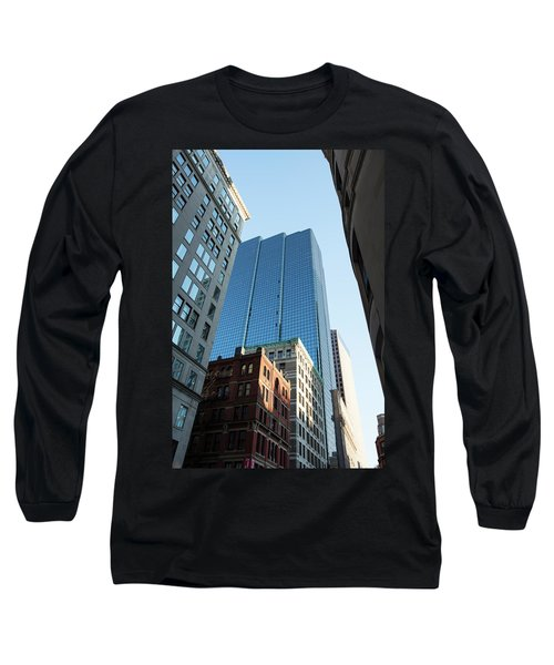 Skyscrapers In A City, Boston Long Sleeve T-Shirt