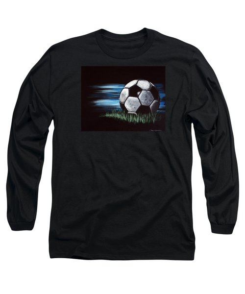 Soccer Ball Long Sleeve T-Shirt by Dani Abbott