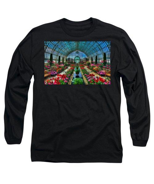 Sunken Garden Como Conservatory Long Sleeve T-Shirt by Amanda Stadther