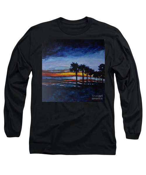 Sunset In St. Andrews Long Sleeve T-Shirt by Jan Bennicoff