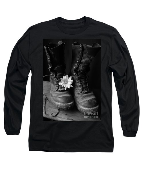 Sweat And Fire Worn Long Sleeve T-Shirt by Kerri Mortenson