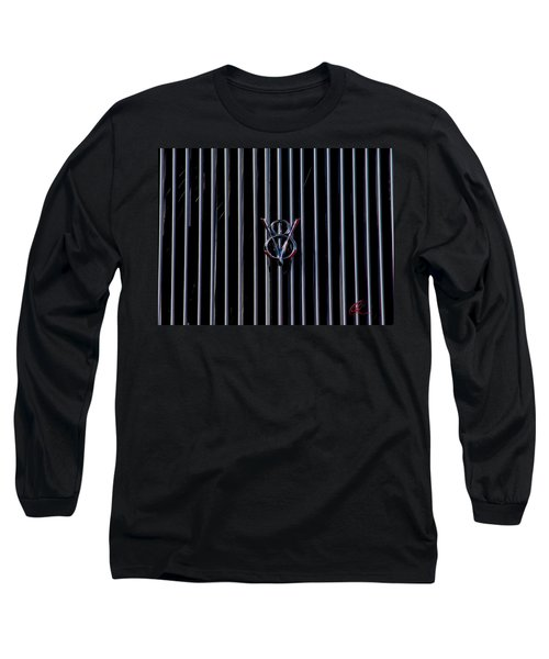 Long Sleeve T-Shirt featuring the photograph V8 Grill by Chris Thomas