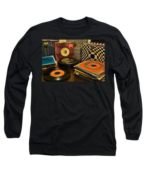 Vintage Vinyl Long Sleeve T-Shirt by Paul Ward