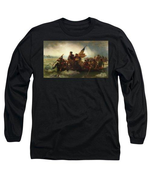 Washington Crossing The Delaware  Long Sleeve T-Shirt