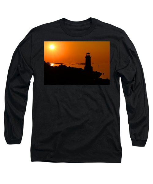 Winter Island Lighthouse Sunrise Long Sleeve T-Shirt