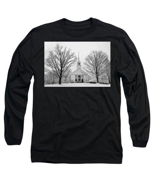 Winter Snow Scene Long Sleeve T-Shirt