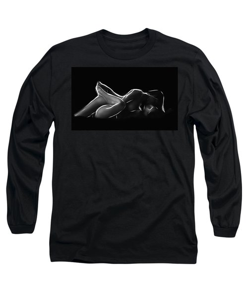 2 Women Black Long Sleeve T-Shirt