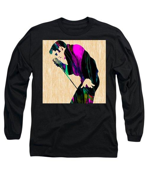 Elvis Presley Long Sleeve T-Shirt by Marvin Blaine