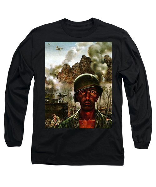 2000 Yard Stare Long Sleeve T-Shirt by Mountain Dreams