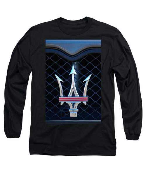 2005 Maserati Gt Coupe Corsa Emblem Long Sleeve T-Shirt by Jill Reger