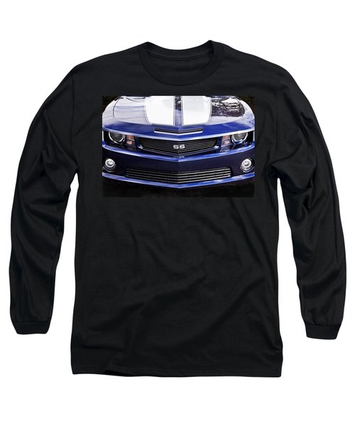 2012 Camaro Blue And White Ss Camaro Long Sleeve T-Shirt