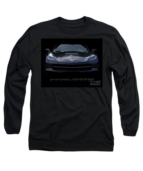 2014 Corvette With Emblem Long Sleeve T-Shirt