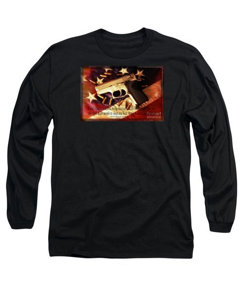 2nd Amendment Long Sleeve T-Shirt by Bob Hislop