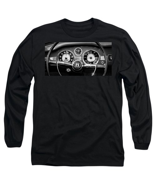 1966 Volkswagen Vw Karmann Ghia Steering Wheel Long Sleeve T-Shirt