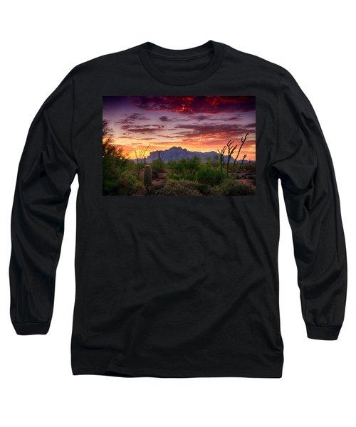 A Superstition Sunrise  Long Sleeve T-Shirt by Saija  Lehtonen