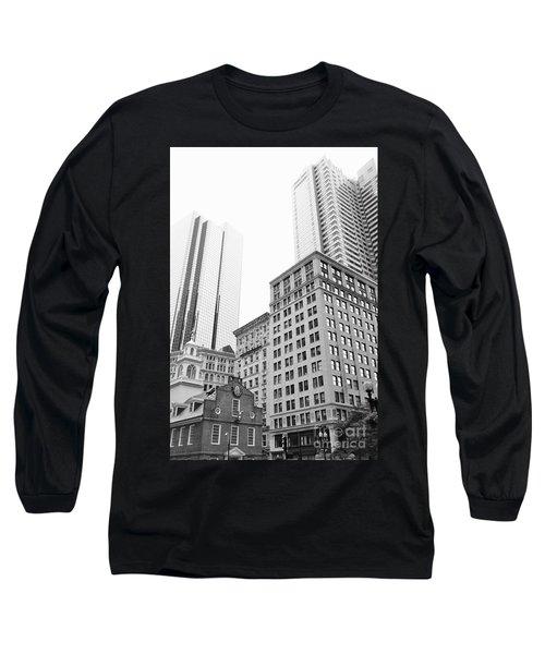 Boston Cityscape Long Sleeve T-Shirt