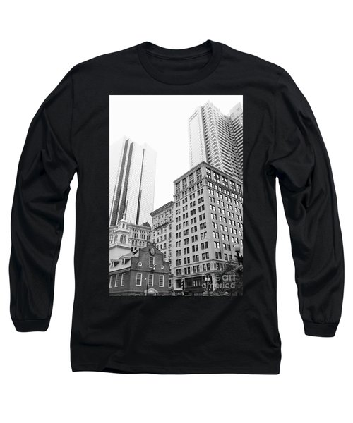 Boston Cityscape Long Sleeve T-Shirt