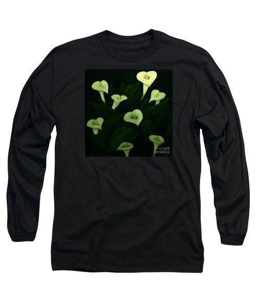 Long Sleeve T-Shirt featuring the painting Calla Lilies by John Stuart Webbstock