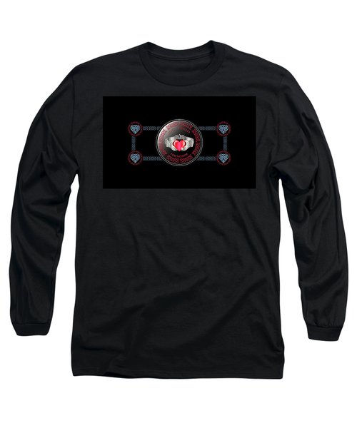 Celtic Claddagh Ring Long Sleeve T-Shirt by Ireland Calling