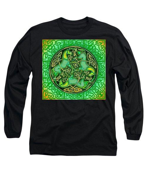 3 Celtic Irish Horses Long Sleeve T-Shirt