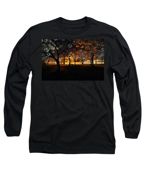 Cherry Blossoms At Night Long Sleeve T-Shirt