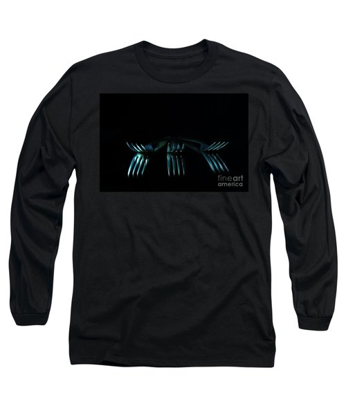 Long Sleeve T-Shirt featuring the photograph 3 Forks by Randi Grace Nilsberg