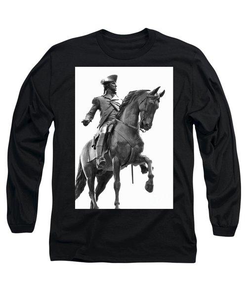 George Washington Statue Boston Ma Long Sleeve T-Shirt