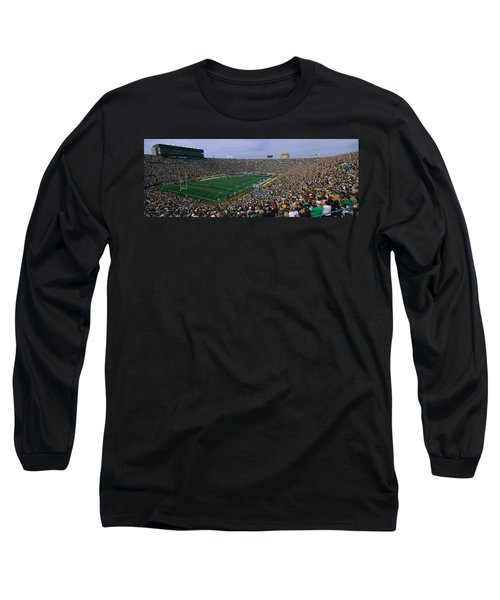 High Angle View Of A Football Stadium Long Sleeve T-Shirt