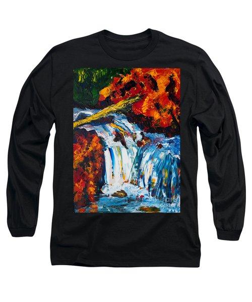 Log And Waterfall Long Sleeve T-Shirt