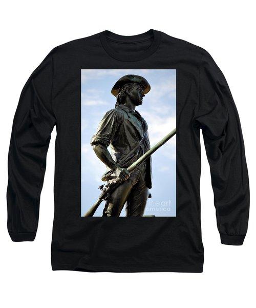 Minute Man Statue Concord Massachusetts Long Sleeve T-Shirt
