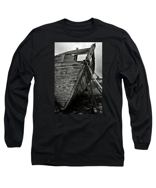 Old Abandoned Ship Long Sleeve T-Shirt by RicardMN Photography
