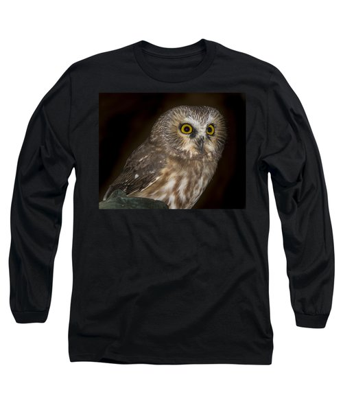 Saw-whet Long Sleeve T-Shirt by Jean Noren