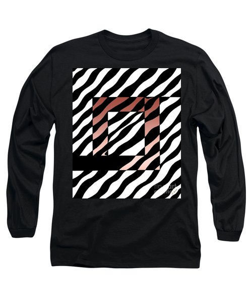 Long Sleeve T-Shirt featuring the drawing 3 Squares With Ripples by Joseph J Stevens