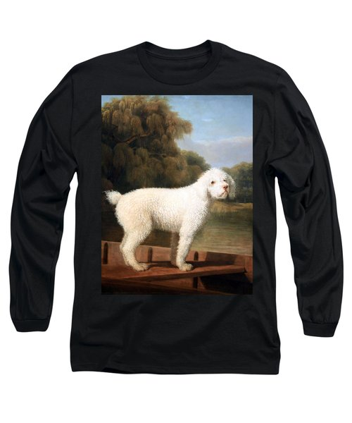 Stubbs' White Poodle In A Punt Long Sleeve T-Shirt by Cora Wandel