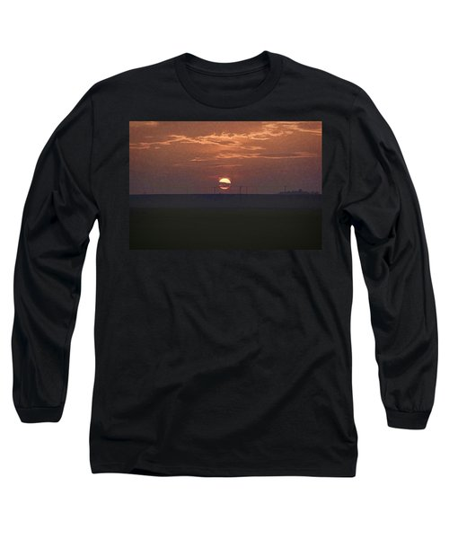 The Setting Sun In The Distance With Clouds Long Sleeve T-Shirt