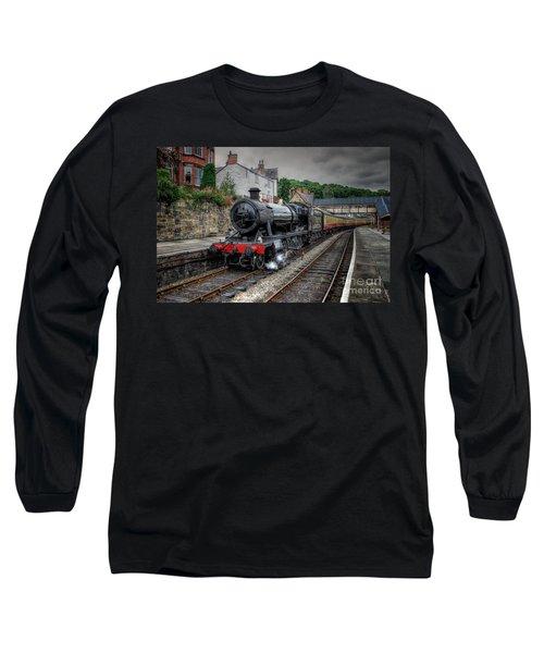 3802 At Llangollen Station Long Sleeve T-Shirt