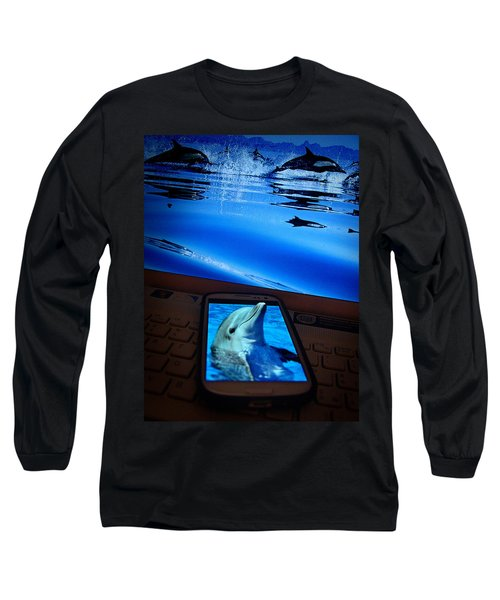 3d Phone... Long Sleeve T-Shirt by Alessandro Della Pietra