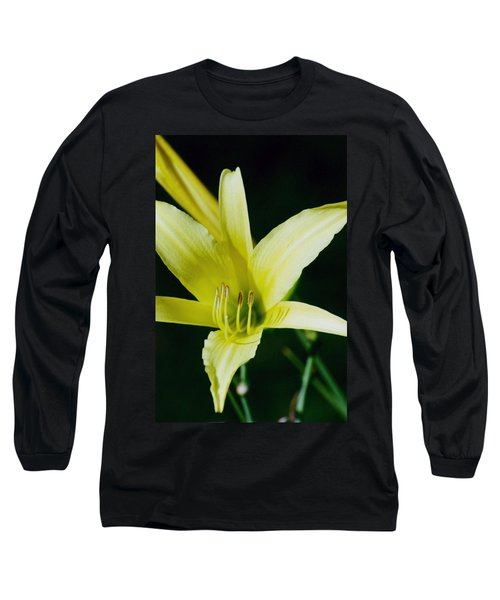 Long Sleeve T-Shirt featuring the photograph 3d Yellow Daylily by Belinda Lee